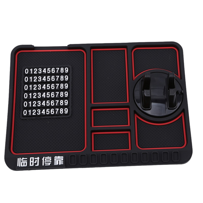 Multi-functional Non Slip Mat Car On-board Phone Holder Temporary Stop Sign Silica Gel  Mobile Phone Anti-slip Pad