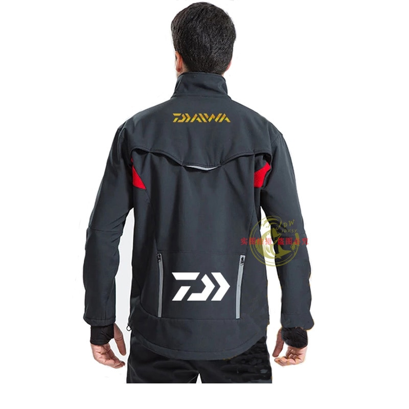 Dai'wa Autumn and Winter Plus Velvet Fishing Clothing Windproof and Waterproof Fishing Clothing Suit Thickened and Warm enlarge