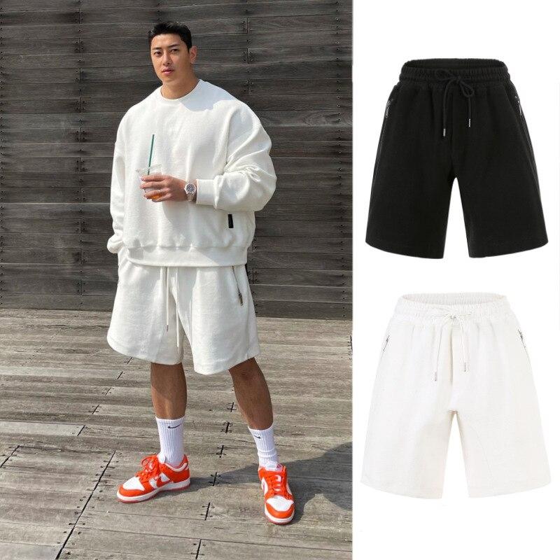 Korean Style New Fashion Cotton Men Shorts Men's Loose Short Trousers Fitness Bodybuilding Jogger Mens Brand Durable Sweatpants
