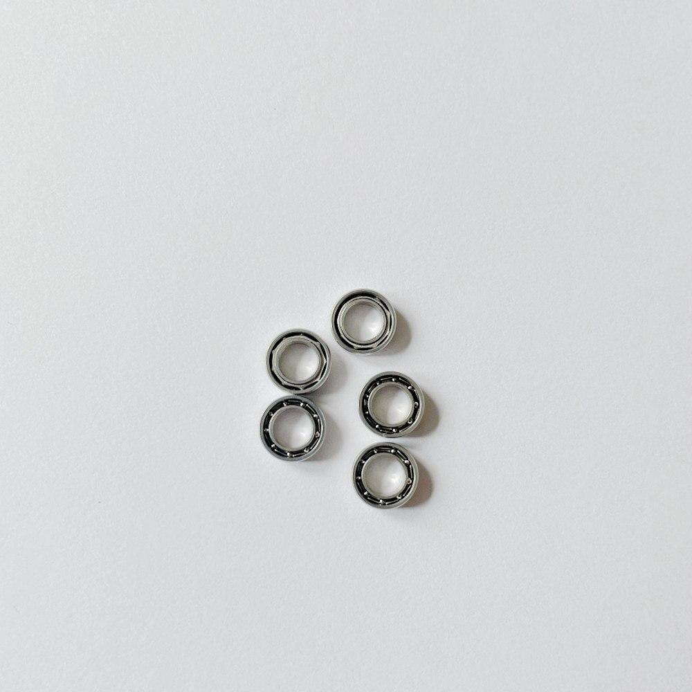 20 قطعة منخفضة السرعة الفولاذ محامل SMR74 4x7x2mm