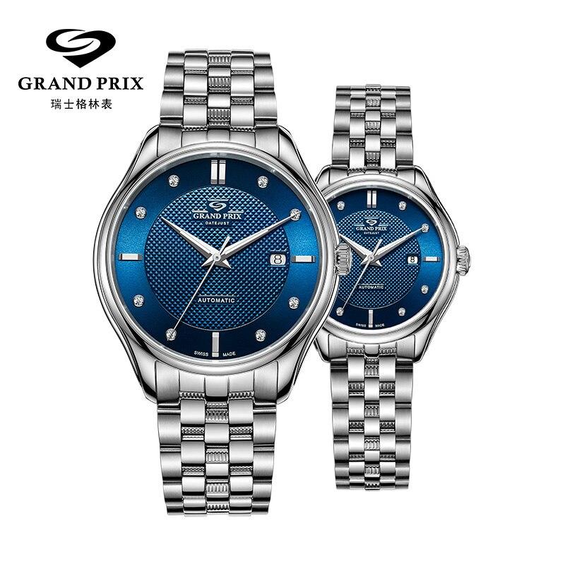 GRAND PRIX Mechanical Watch Men Top Brand Luxury Waterproof Automatic Watches For Women Date Male Wristwatches Relogio Masculino