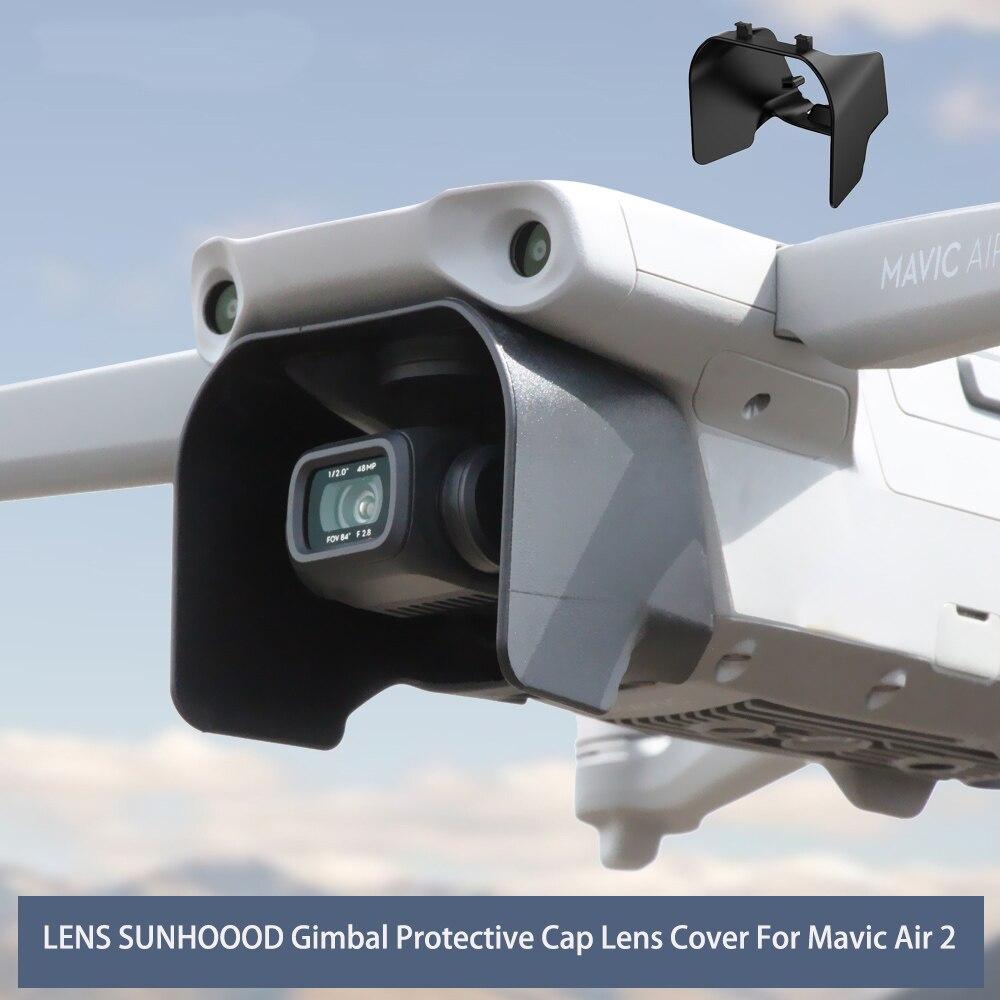 Capa de lente anti-reflexo cardan capa de proteção capa de lente pára-sol para mavic ar 2 drone acessórios
