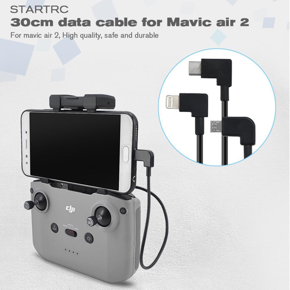 Drone kabel do transmisji danych dla Mavic Air 2 sterowania mikro rodzaj USB c IOS Android OTG dla DJI Mavic mini 2 Tablet akcesoria do smartfonów