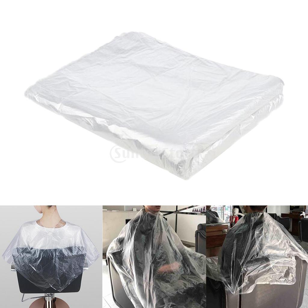 Capes de Corte de Cabelo Vestido de Salão de Beleza Claro Impermeável Descartável Conjunto Avental 300-pacote
