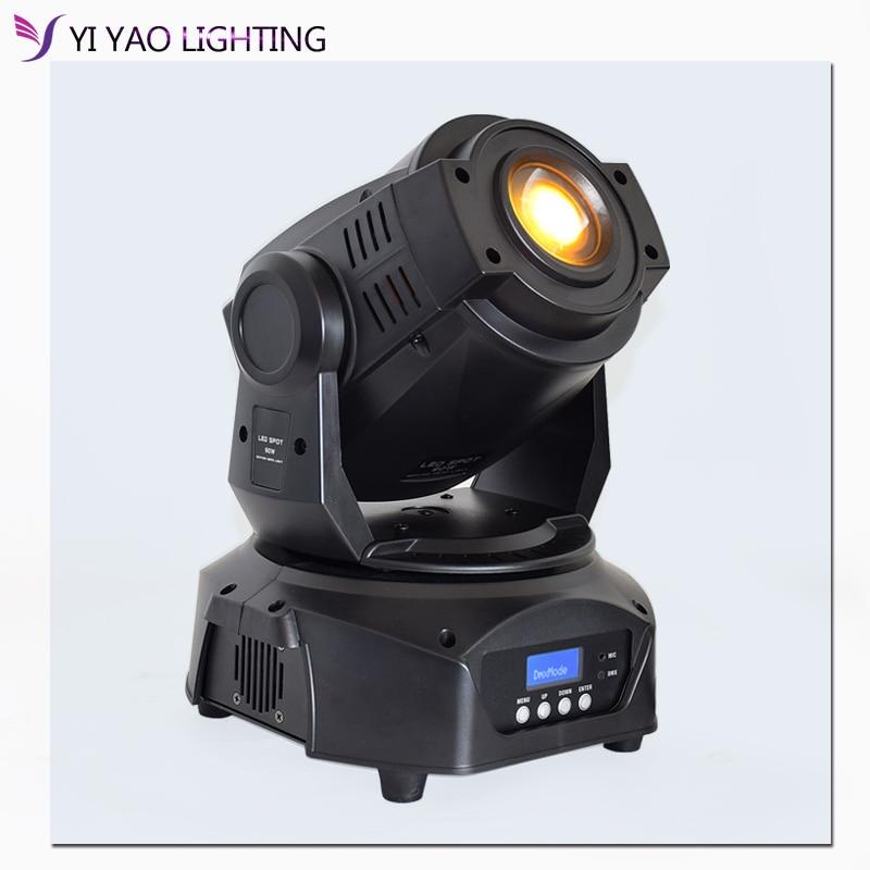 Lyre 90w 7 Colors+8 Gobos Led Spot DMX 512 16CH Moving Head Stage Lights Focus 3 Facet Prism Effect Lightings