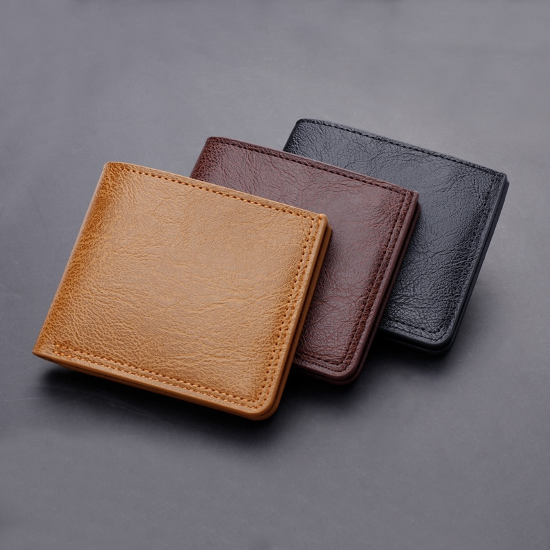 Driver's License Holder PU Leather Purse Card Holder Short Button Wallet Durable Money Clip Men Trend Casual Card Pack Purse