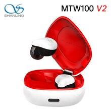 Shanling MTW100 V2 Draadloze Oortelefoon Tws Bluetooth 5.0 IPX7 Waterdichte In-Ear Draadloze Koptelefoon