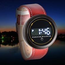 Student LED Electronic Watch Wooden Watch Student Outdoor Multifunctional Sports Watch Wooden Watch