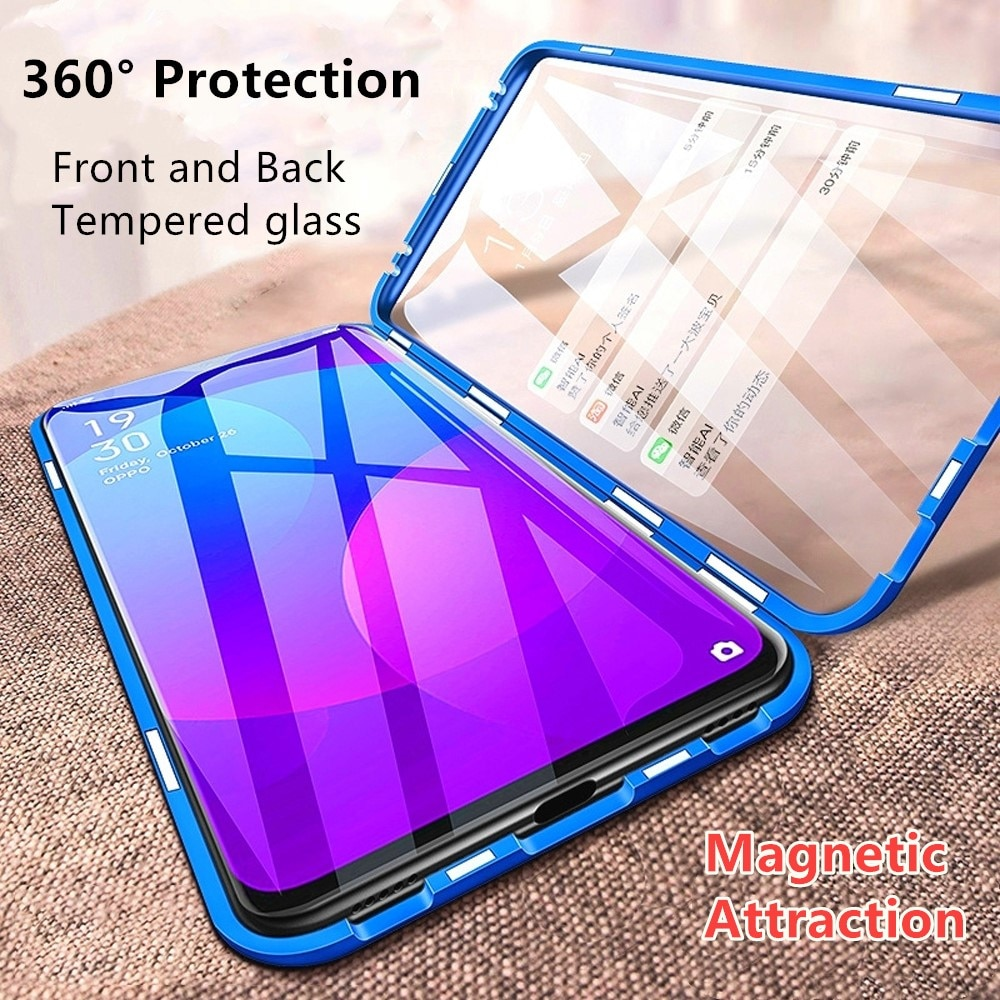 Jonwelsy, funda de adsorción magnética para Samsung Galaxy A51/A71/A81/A91, 360, protección completa, cubierta de cristal templado de doble cara