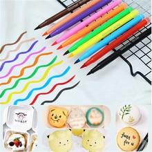 TTLIFE Edible Pigment Pen Brush Food Color Pen Drawing Biscuits Cake Decorating Tool Cake Diy Baking Cake Painting Hook Coloring
