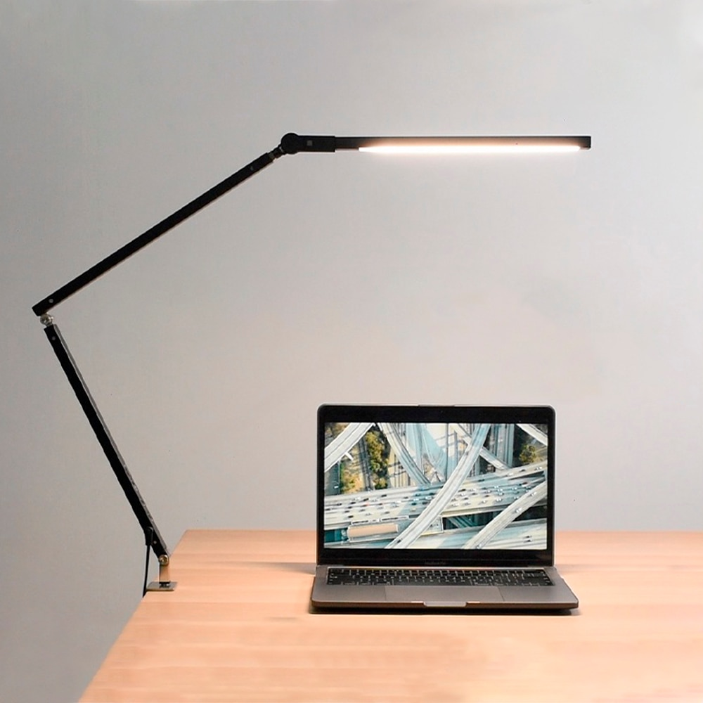 Artpad-مصباح مكتب LED حديث مع مشبك بذراع طويل ، 8 وات ، 3 سطوع ، قابل للتعديل ، للمكتب أو القراءة
