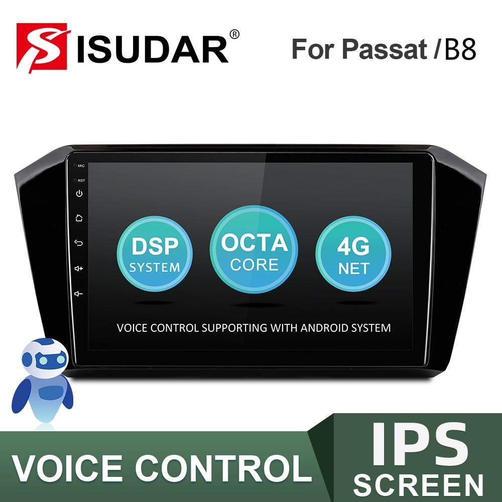 ISUDAR-راديو السيارة متعدد الوسائط V57S لـ VW/Volkswagen Passat B8 2015 ، راديو السيارة Android ، GPS ، كاميرا DVR ، 2 جيجا بايت رام ، 32 جيجا بايت روم ، FM ، No 2DIN