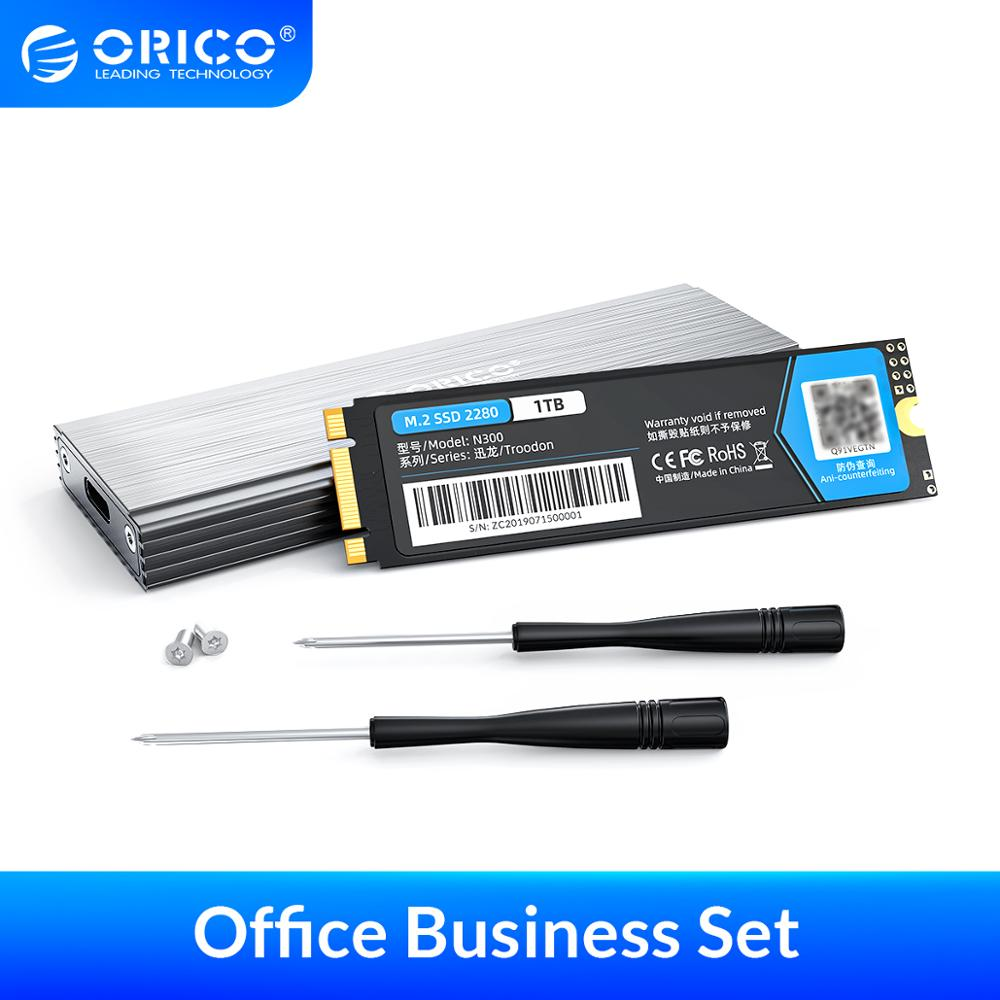 ORICO DIY Portable Solid State Drive M.2 NGFF SATA SSD With 5Gbps USB Type C Aluminum M.2 SSD Enclosure Case for Mobile Business