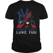 NewYork Yankees Funny T-Shirt Deadpool Fxck you Love you NewYork Yankees Shirt  Cartoon t shirt men Unisex New Fashion