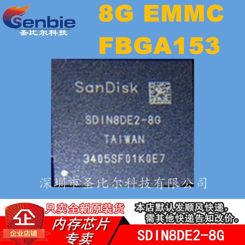 SDIN8DE2-8G EMMCICFBGA153 10 قطعة