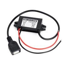 Convertisseur étagé pour voiture 12V à 5V   3A, 15W, Port USB pour femme, convertisseur dalimentation cc, câble adaptateur, pour voiture USB