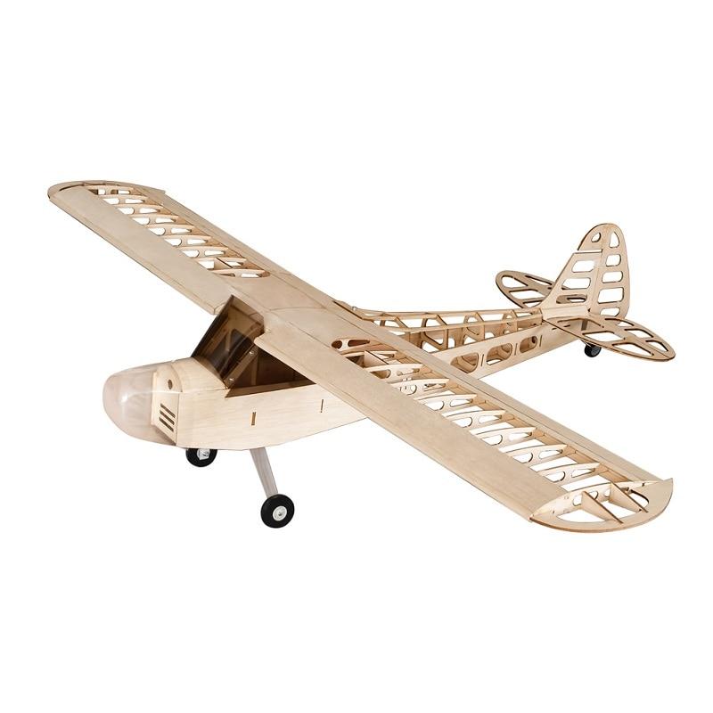 NEW 2020 Dancing wings hobby S0801 1.2M J3 Tiger Moth 1400mm Balsa Wood RC Airplane Kit Motor ESC&Servo For Kids