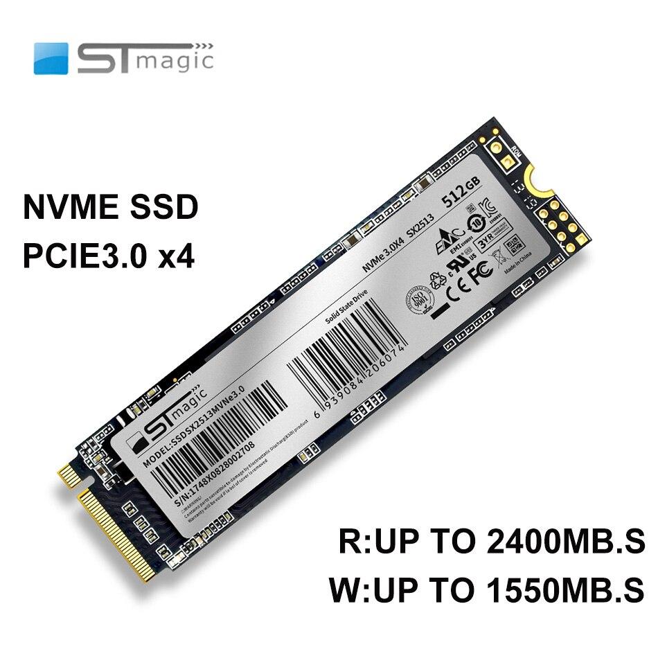 Stmagic PCIe SSD M2 NVME 128GB 256B 512GB 1 تيرا بايت M.2 2280 الحالة الصلبة محرك مستقل مخبأ قرص صلب داخلي لأجهزة الكمبيوتر المحمول سطح المكتب