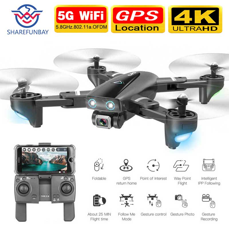 S167 drone GPS 4K HD 1080P 5G WIFI FPV drone vuelo 20 minutos altura mantener Quadcopter control de distancia 500m drone Cámara