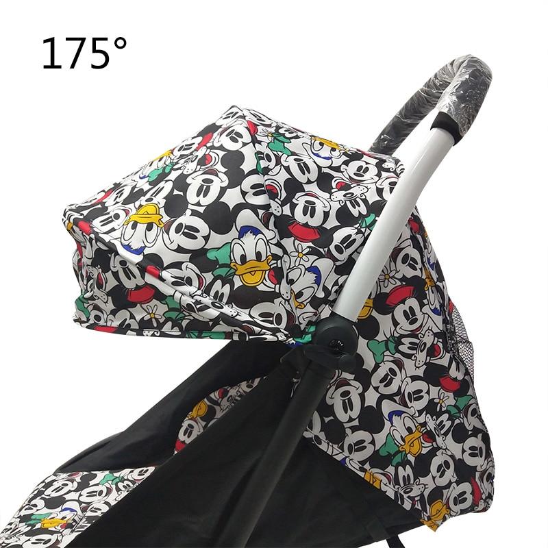 175 Degrees Stroller Accessories for Baby Yoya Babyzen Yoyo Seat Liners Sun Shade Cover Hood Baby Time Pram Cushion Pad Mattress