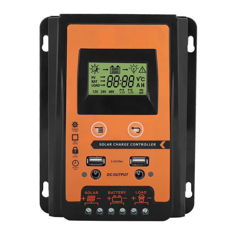 auto solar charge controller controllers lcd dual usb 5v output solar panel pv regulator cell panel charger regulator with load 12V/24V 30A50A MPPT Solar Charge Controller Solar Panel Battery Regulator Dual USB LCD Display Solar Panel Battery Regulator