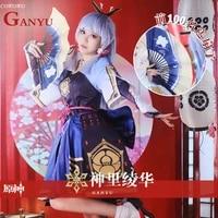 anime genshin impact kamisato ayaka game suit lovely kimono uniform cosplay costume halloween party outfit for women 2021 new