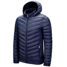 Big Hooded Parka Men\'s 2021 Winter New Parka Coat Warm and Lightweight Jacket Stitching Cotton Jack