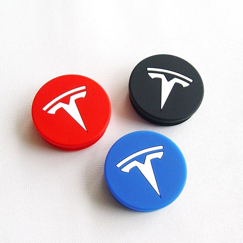 1set estilo de coche de cubierta central de rueda de neumático tornillo tapa borde cubierta de cubo de la decoración Exterior para Tesla modelo 3 modelo X S X