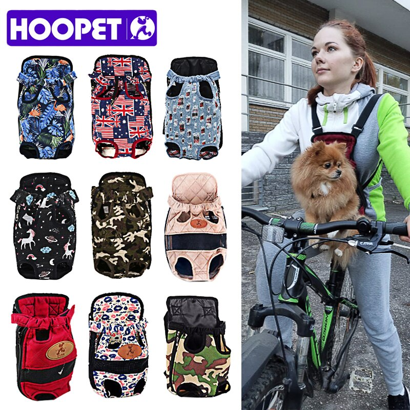 HOOPET Carrier for Dogs Pet Dog Carrier Backpack Mesh Outdoor Travel Products Breathable Shoulder Ha