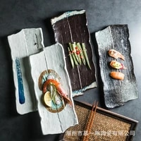 large ceramic plates large size plates sushi plates barbecue wings plates and creative rectangular cumin ribs flat plates