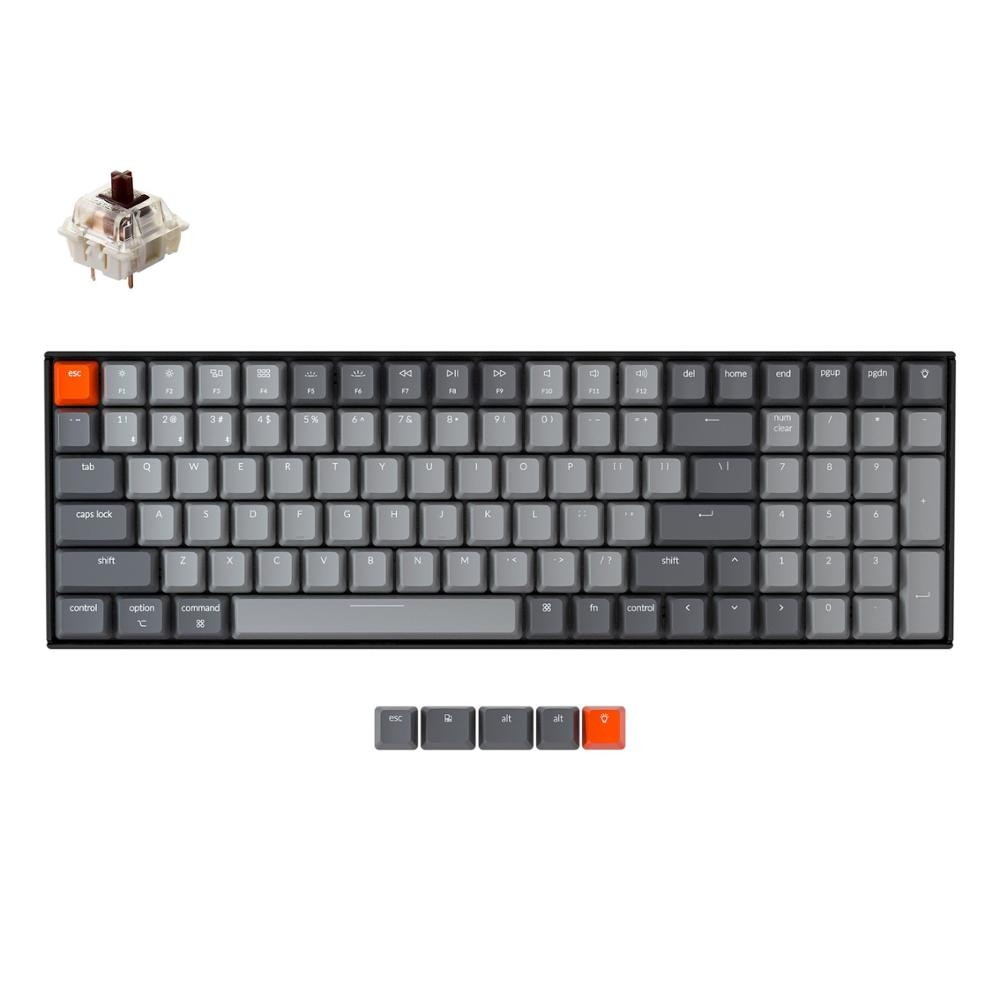 Review Keychron K4 G V2 Bluetooth Wireless Mechanical Keyboard w/ White Backlight Hot-Swappable Switch Wired USB Gaming Keyboard