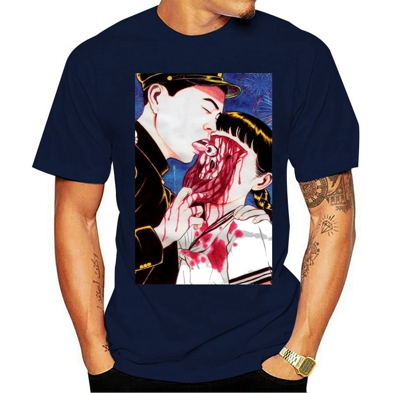 Camiseta bulbo oculare leccare suehiro maruo culto giapponese anime mangá horror augess