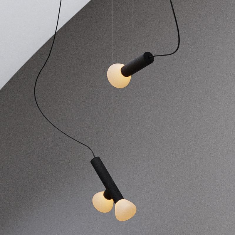 Простой подвесной светильник в скандинавском стиле, современные люстры для гостиной, украшение для спальни, прикроватная лампа для рестора...