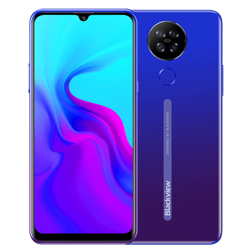 Blackview A80 Android 10.0 Go Mobile Phone 6.21'' HD+ IPS Screen 2GB RAM 16GB ROM Quad Rear Cameras 4G Smartphone 4200mAh