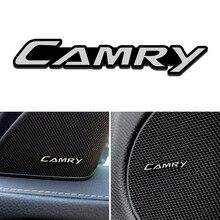 4 Stks/set Aluminium Auto Binnendeur Audio Decoratie Trim Stickers Voor Toyota Camry Avensis Auris Hilux Corolla RAV4 Auto Styling