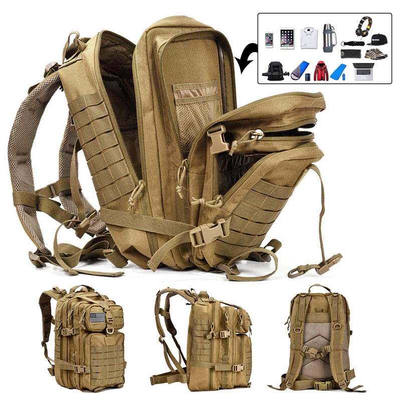 50L Capacity Men Army Military Tactical Large Backpack Waterproof Outdoor Sport Hiking Camping Hunti