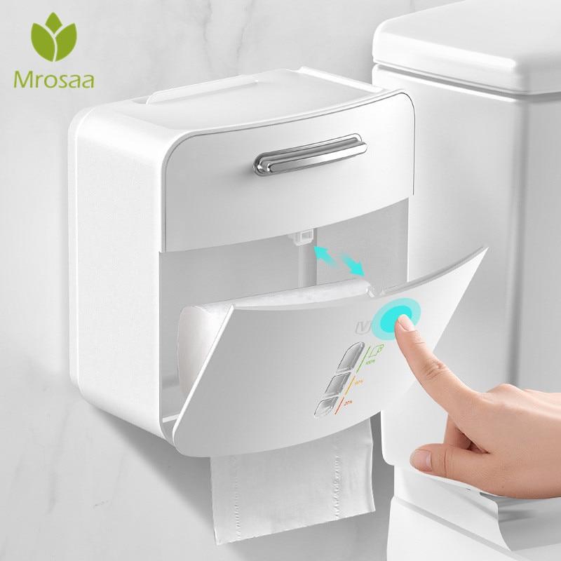 حامل ورق المرحاض منشفة ورقية صندوق تخزين صينية الحائط Wc لفة مسند ورقي الحال بالنسبة للمرحاض ورقة اكسسوارات الحمام