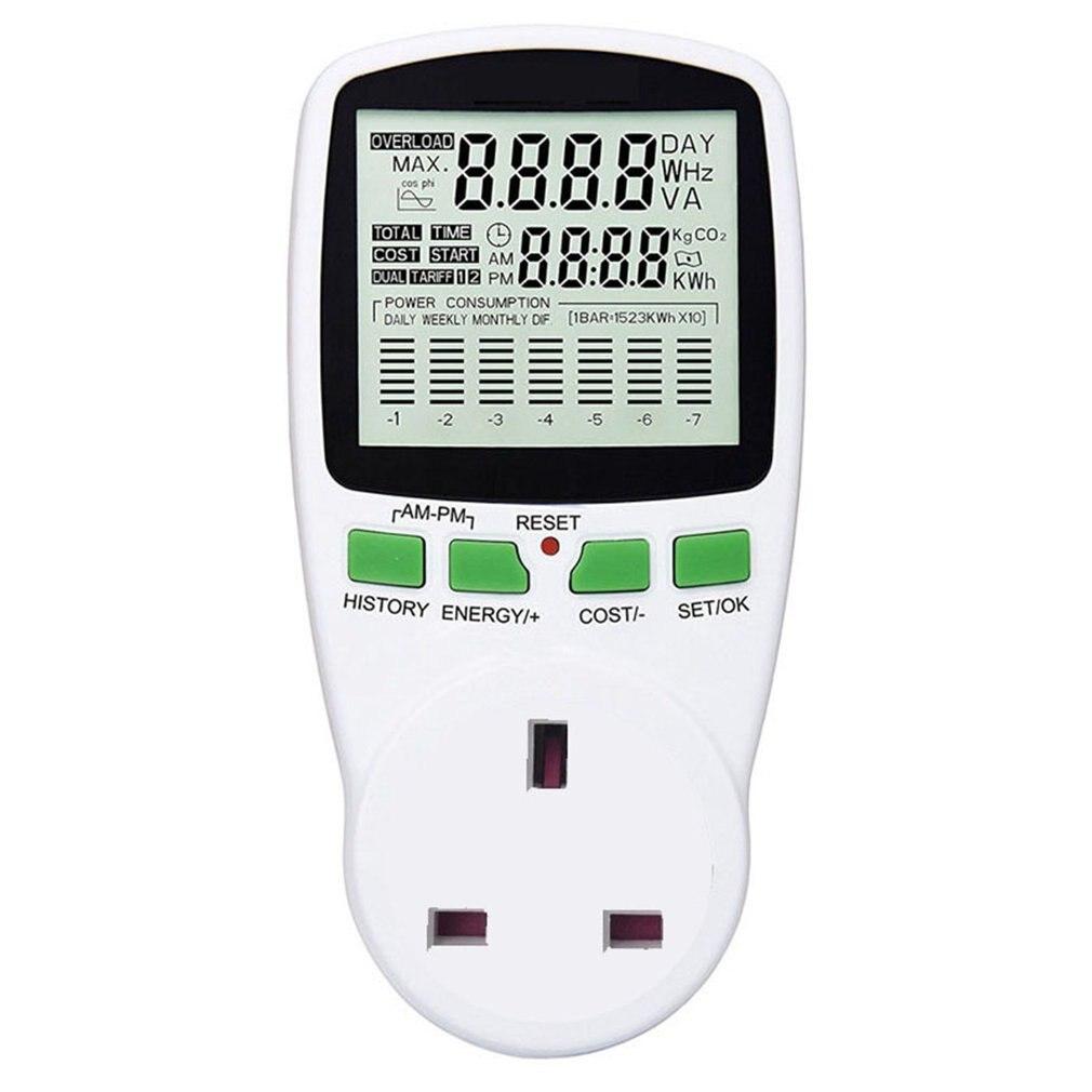 Medidor de potencia, medidor de potencia Digital, medidor de energía, Monitor de vatios, diagrama de coste de electricidad, Analizador de toma de medida con diagrama
