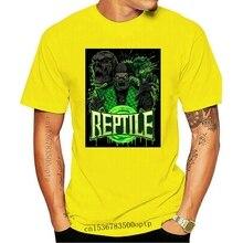 Mortal Kombat X Finish Ihn Reptil T Shirt Made In USA 2020 mode t hemd 100% baumwolle t-shirt tops großhandel t