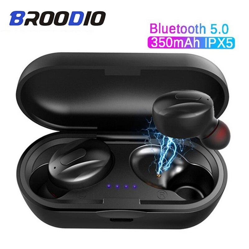 XG13 TWS inalámbrica Bluetooth 5,0 auriculares IPX5 impermeable cierto cascos auriculares Bluetooth Estéreo deportes auriculares con micrófono