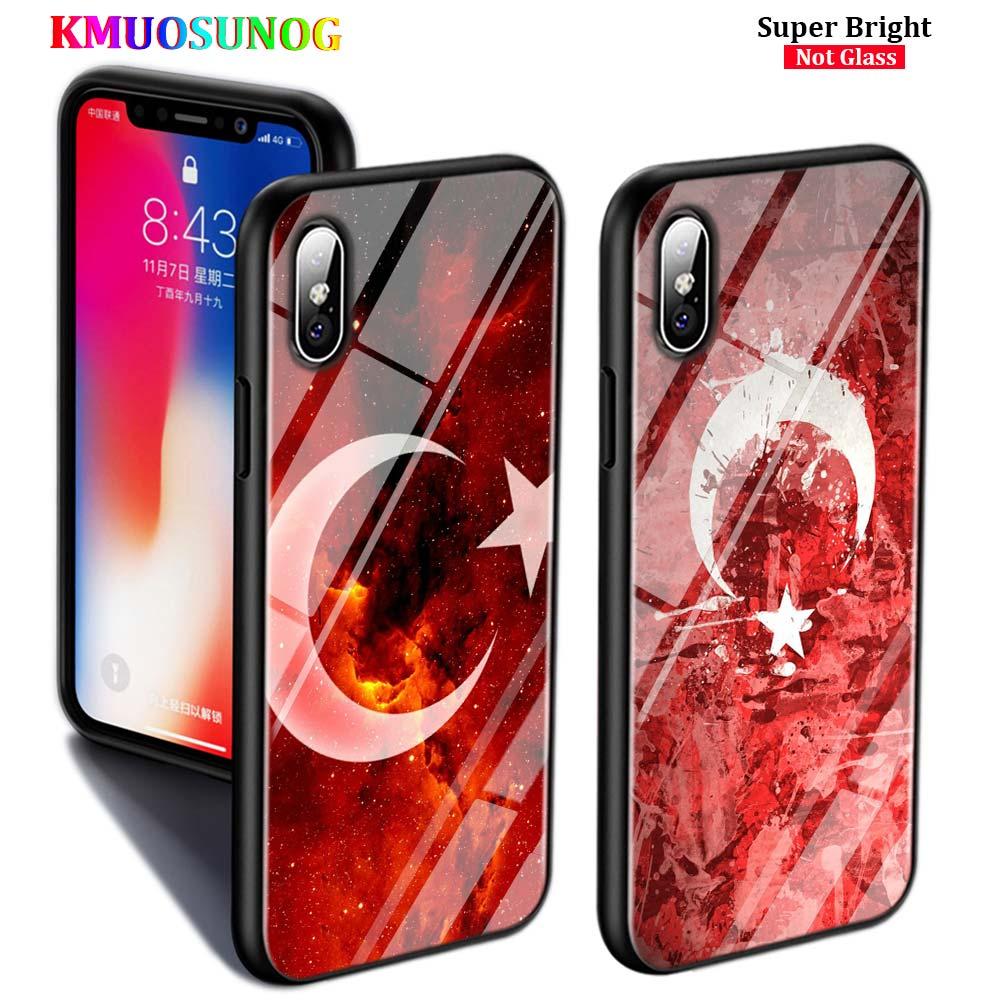 Черный чехол для iPhone 11 11Pro Max флаг Турции арт для iPhone X XR XS Max 8 7 6 6S Plus 5S глянцевый чехол для телефона