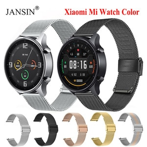 For Xiaomi mi Watch Color Strap Watchband Milanese Bracelet Stainless Steel Watch Band For Mi Watch Color Correa Metal Wristband