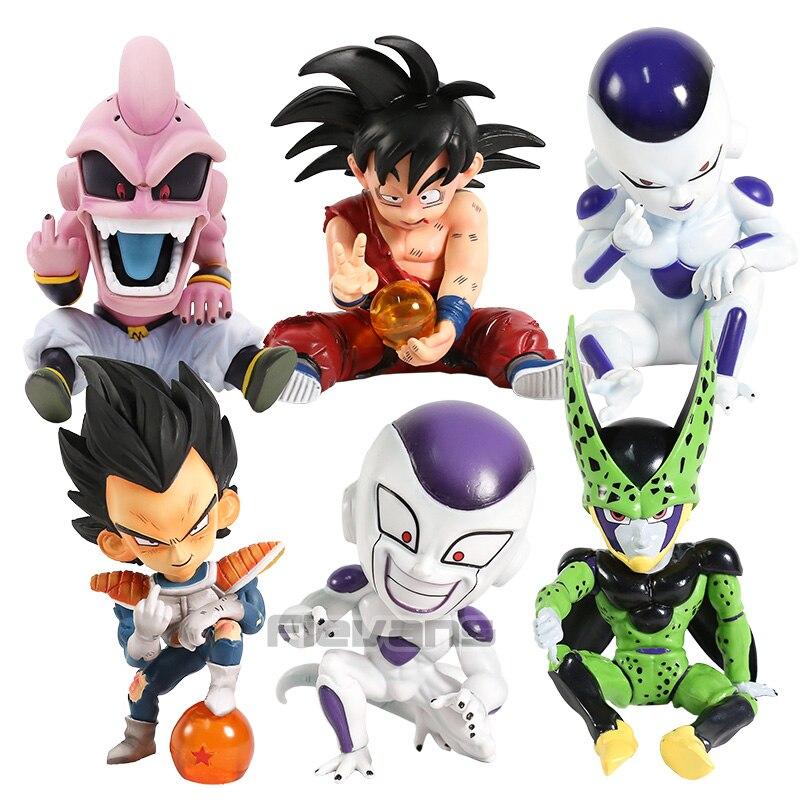 Dragon Ball Z GK Vegeta freezer celular hijo de Goku Majin Buu Mini PVC estatua figura coleccionable modelo de juguete