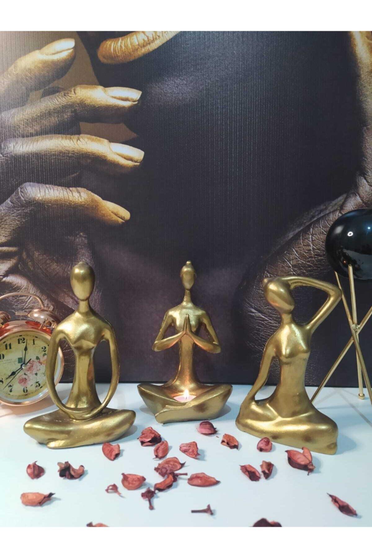 Decorative Yogacı Girls 3'lü Suit Accessories Dry Flower Flowers Modern Minimalist Literary Vases for Home Decoration