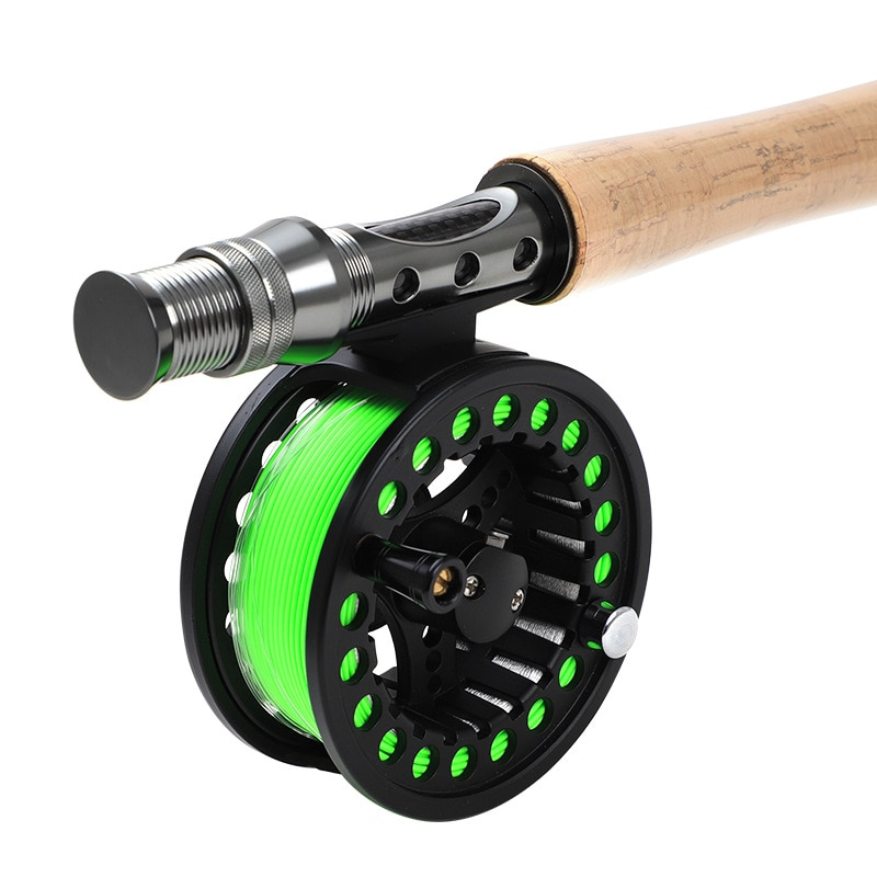 TAIGEK Fly Fishing Rod Set 2.4M  Fly Rod and Fly Reel with Fishing Bag Line Accessories Lures Box Combo enlarge