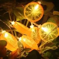 new fruit shape led light string girl heart room small night light shape party decoration