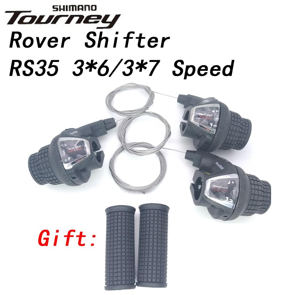 Shimano Tourney SL-RS35 Revoshift рукоятка для велосипеда поворотный рычаг переключения 3 * 6s 3*7s 18S 21s гребень для велосипеда с захватами RS35 as RS31 RS36