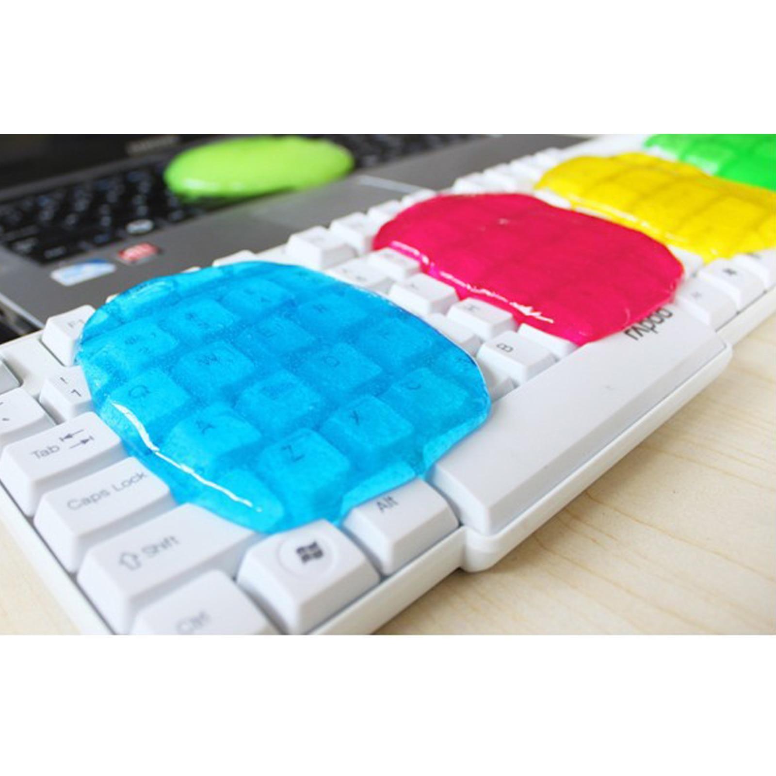Multifunction Soft Safe Car Sticky Clean Glue Gum Gel Cleaning Auto Interior Outlet Keyboard Dust Cleaner Microfiber Sponge Gel