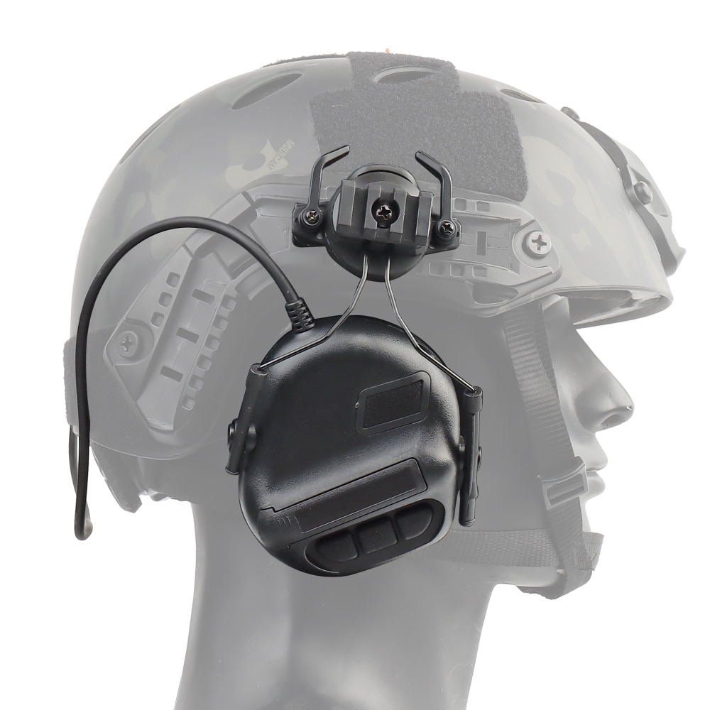Tactical Headset Military Helmet Headphone with Fast Helmet Rail Adapter Airsoft Shooting Headset Army Communication Accessories enlarge