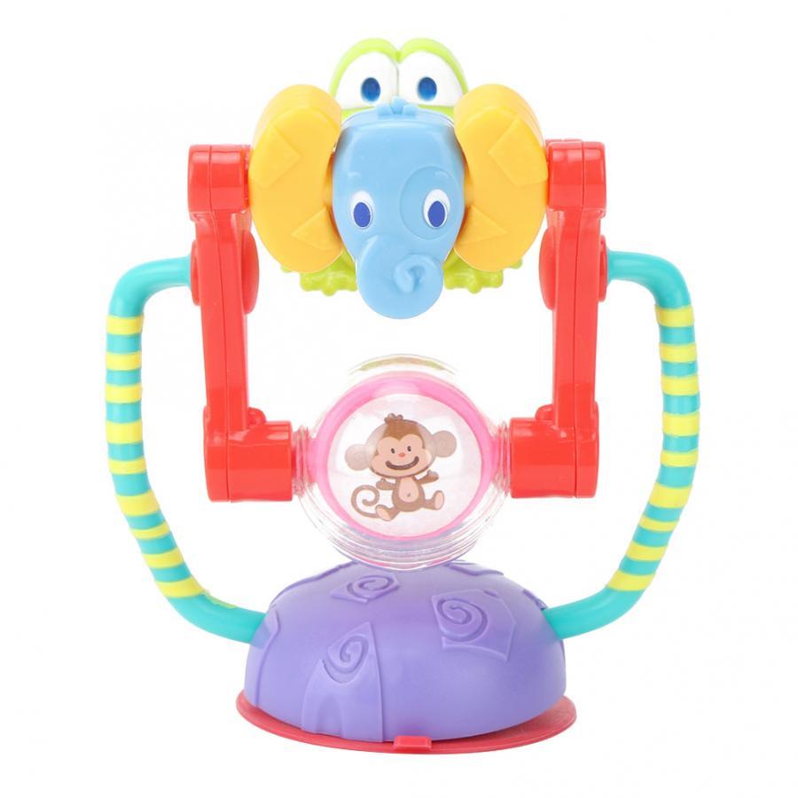 Colorido juguete sonajero giratorio noria con ventosas niños comiendo Mesa silla para comer de coche juguete sonajeros graciosos juguete